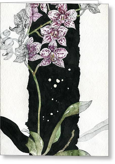 Elena Yakubovich Greeting Cards - Flower ORCHID 04 Elena Yakubovich Greeting Card by Elena Yakubovich