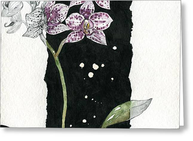 Flower ORCHID 04 Elena Yakubovich Greeting Card by Elena Yakubovich