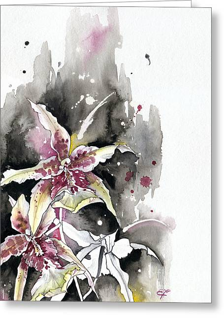 Fineartamerica Greeting Cards - Flower ORCHID 12 Elena Yakubovich Greeting Card by Elena Yakubovich