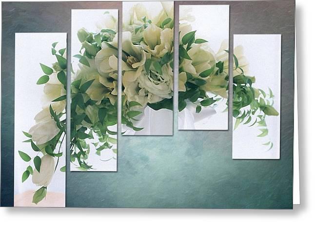 Flower Panels Greeting Card by Gun Legler