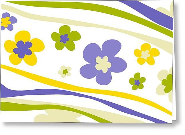 Esteban Greeting Cards - Flower Pattern 3 Greeting Card by Esteban Studio