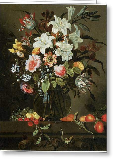 Master Piece Greeting Cards - Flower Piece Greeting Card by Jacob Marrell