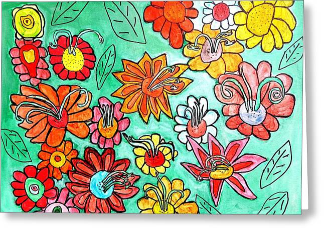 Brandon Drucker Greeting Cards - Flower Power Greeting Card by Brandon Drucker