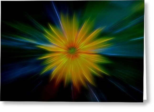 Flower Power Greeting Card by Dan Sproul