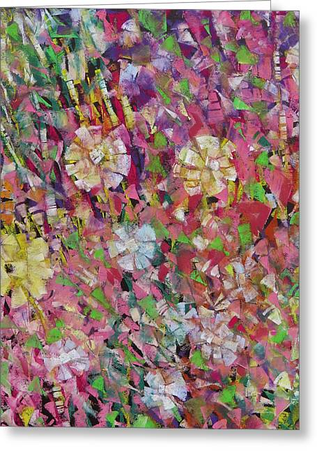 Pastel Palette Greeting Cards - Flower Power Greeting Card by Katie Black