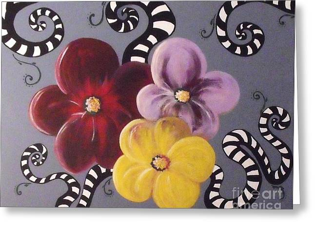 Beetlejuice Greeting Cards - Flower Power Greeting Card by Rosana Modugno
