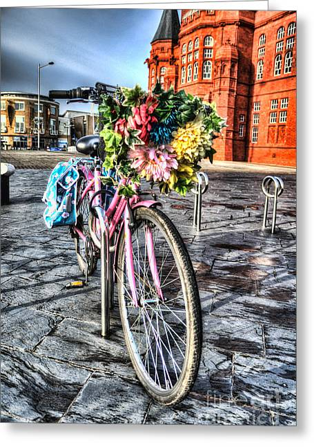 Pannier Greeting Cards - Flower Power Greeting Card by Steve Purnell