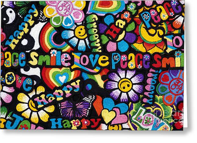 Flower Power Greeting Card by Tim Gainey