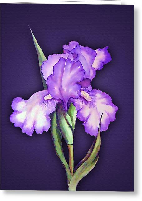 Power Plants Mixed Media Greeting Cards - Flower Power Greeting Card by Tyler Robbins