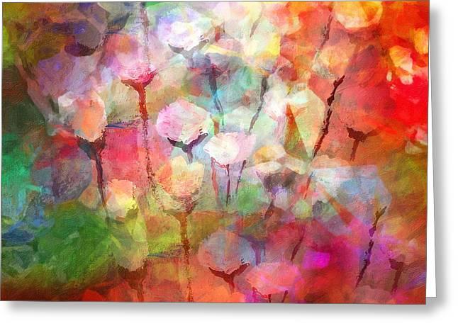 Painted Flowers Greeting Cards - Flower Serenade Greeting Card by Lutz Baar