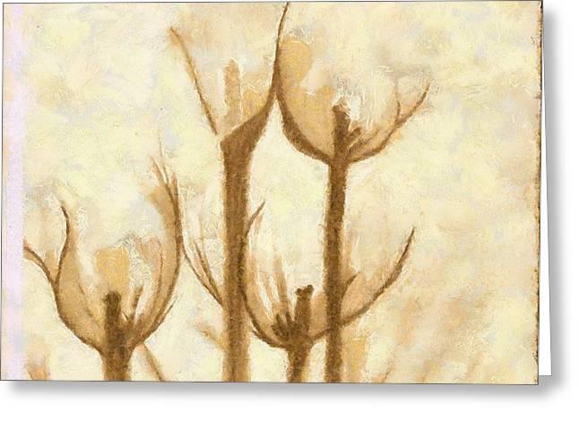 Flower Sketch Greeting Card by Yanni Theodorou