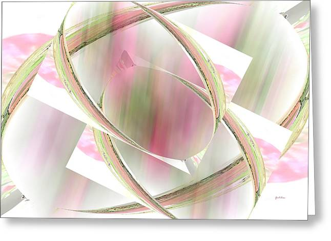 Abstract Rose Oval Greeting Cards - Flower Sprites Greeting Card by Gretchen Wrede
