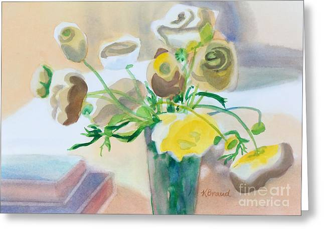Limited Colors Greeting Cards - Flower Still Life          Greeting Card by Kathy Braud