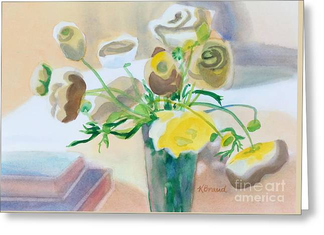 Flower Still Life          Greeting Card by Kathy Braud