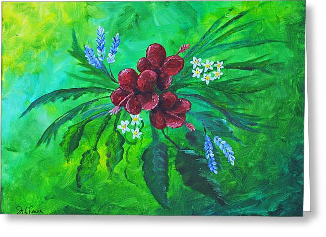Abstract Nature Greeting Cards - Flower Study Greeting Card by Michael Fencik