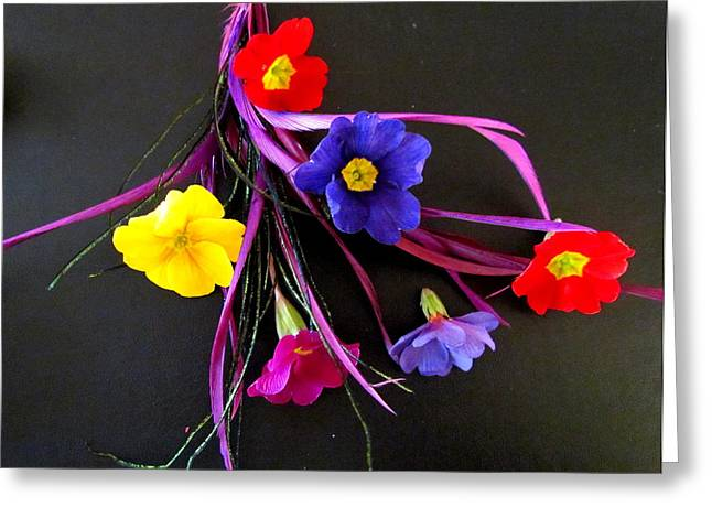 Joyce Woodhouse Greeting Cards - Flower to put on a gift Box Greeting Card by Joyce Woodhouse