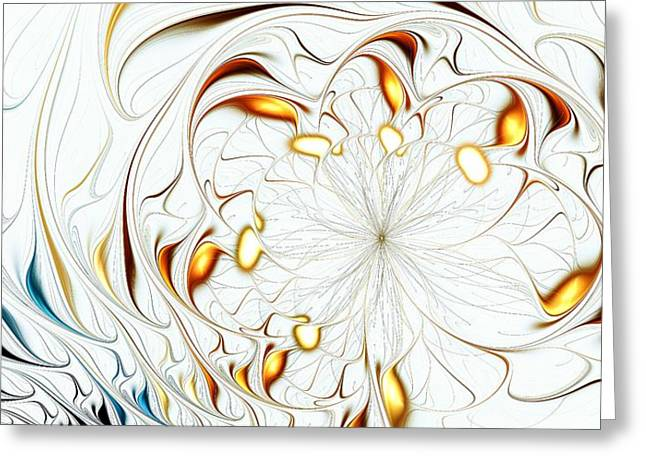Malakhova Greeting Cards - Flower Waves Greeting Card by Anastasiya Malakhova