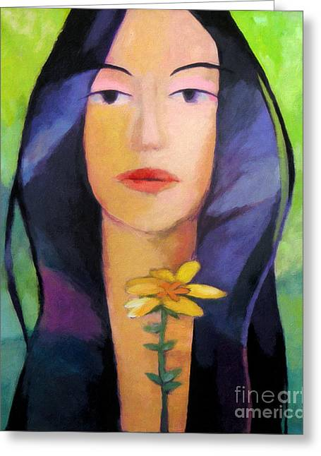 Baar Greeting Cards - Flower Woman Greeting Card by Lutz Baar