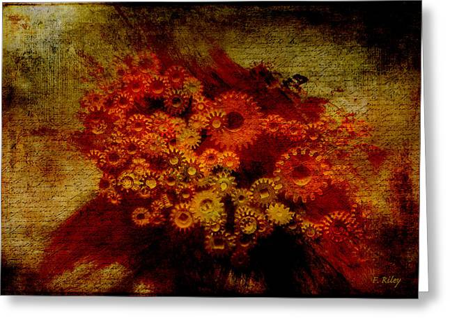 Component Digital Art Greeting Cards - Flower Works Greeting Card by Fran Riley