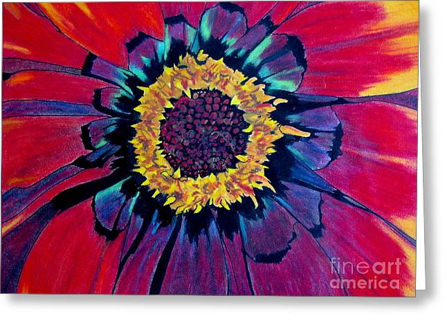 Flowerburst Greeting Card by Rory Sagner