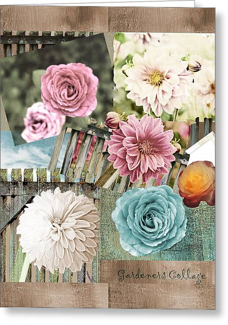 Dagmar Greeting Cards - Flowered Greeting Card by Dagmar Wassenberg