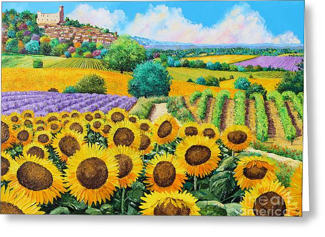 Chateau Greeting Cards - Flowered Garden Greeting Card by Jean-Marc Janiaczyk