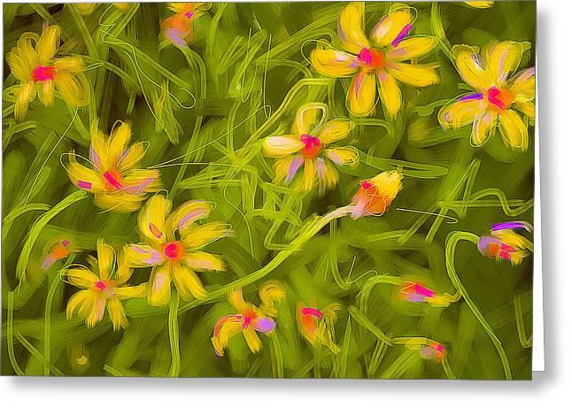 Flowerfield Greeting Card by Go Van Kampen