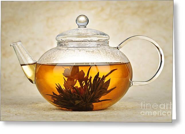 Flowering blooming tea Greeting Card by Elena Elisseeva