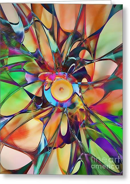 Flowering Greeting Card by Klara Acel