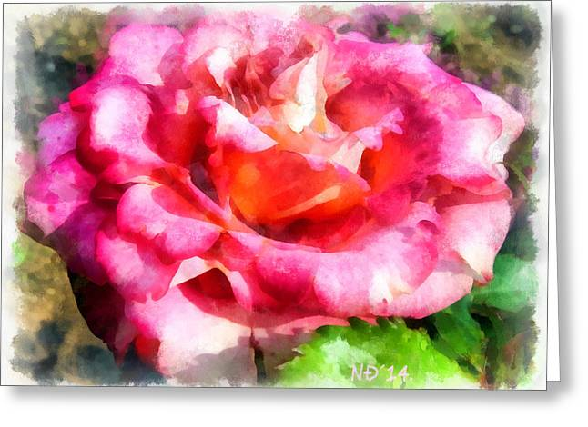 Lucent Dreaming Greeting Cards - Flowers 01 Greeting Card by Nikola Durdevic
