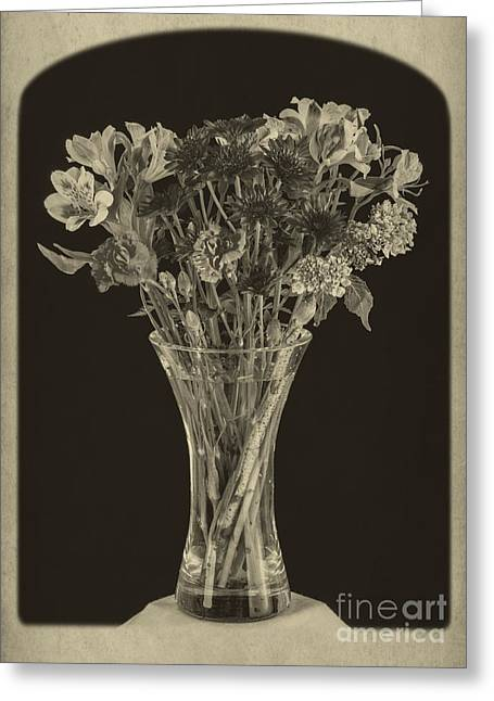 Flower Still Life Greeting Cards - Flowers 1860s Greeting Card by Edward Fielding