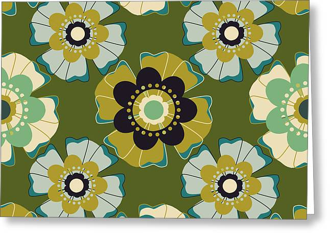 Lisa Noneman Digital Art Greeting Cards - Flowers 7 Greeting Card by Lisa Noneman