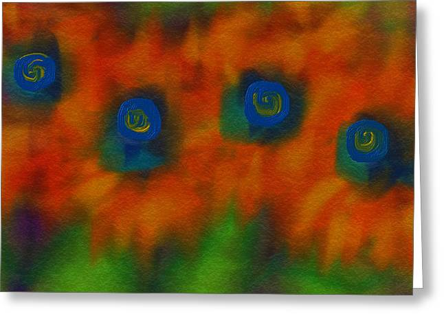 Disability Paintings Greeting Cards - Flowers 7 Sunny Day Greeting Card by Judi Walters