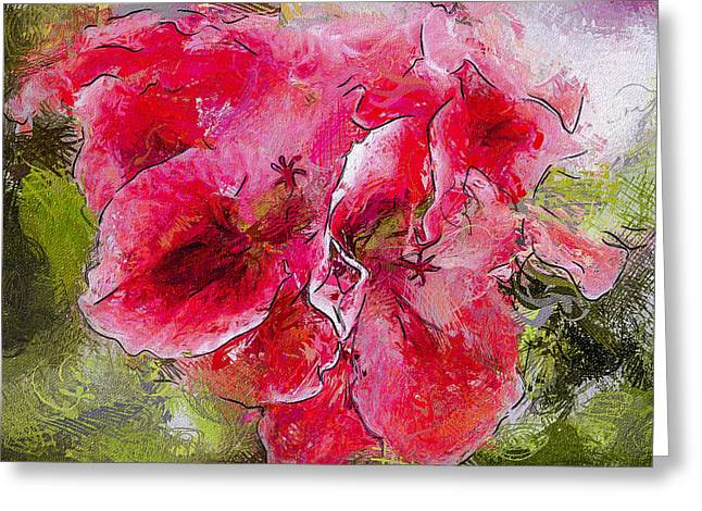Interior Still Life Digital Art Greeting Cards - FLowers Almost Abstract Greeting Card by Yury Malkov