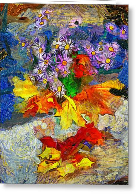 Interior Still Life Digital Greeting Cards - Flowers And Colours Greeting Card by Yury Malkov