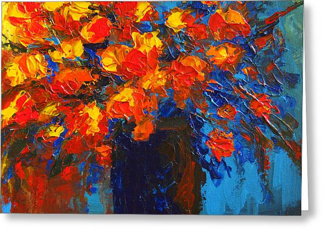 Flowers are always welcome III Greeting Card by Patricia Awapara