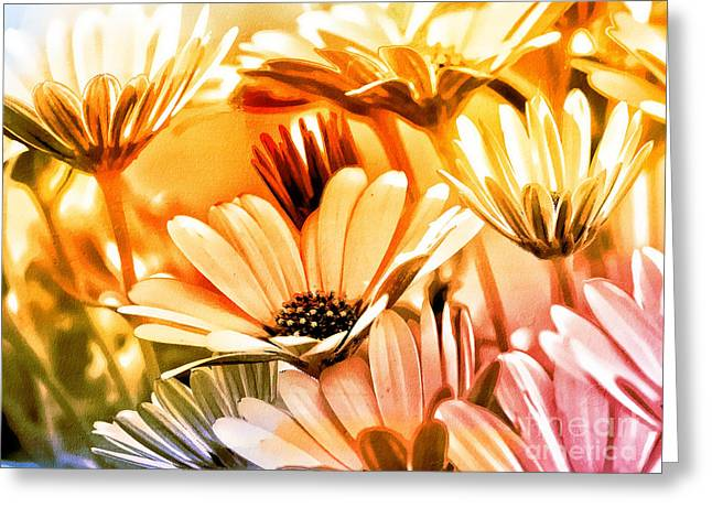 Flower Artwork Greeting Cards - Flowers Artwork Greeting Card by Lutz Baar