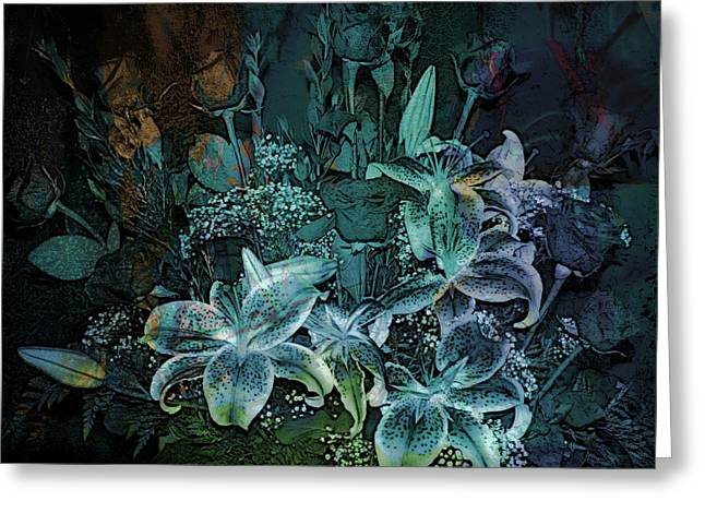 Shower Curtain Greeting Cards - Flowers Greeting Card by Athala Carole Bruckner