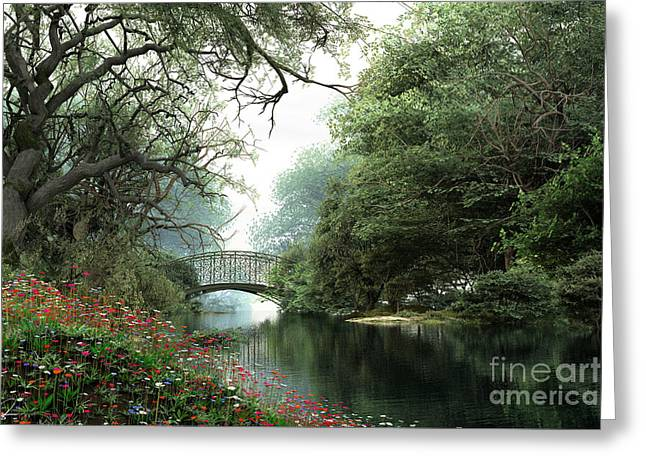 Stream Digital Art Greeting Cards - Flowers Best Greeting Card by Dominic Davison
