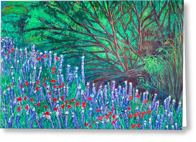 Flowers By An Ecotone Greeting Card by Kendall Kessler