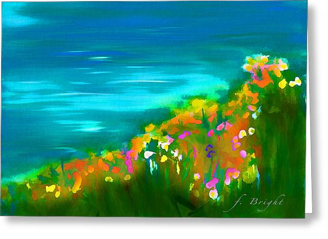 Mayers Creek Greeting Cards - Flowers By Mayer Brook Greeting Card by Frank Bright