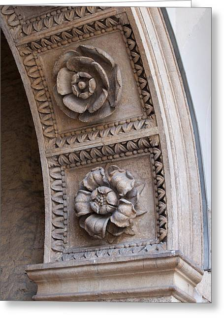 Castle Gates Greeting Cards - Flowers Carvings Greeting Card by Artur Bogacki