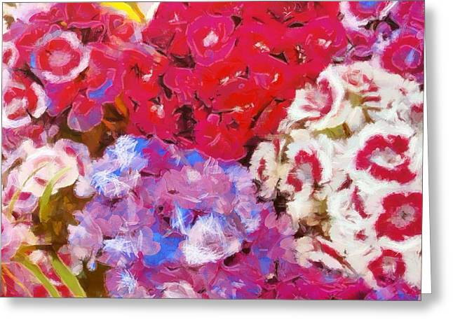 Beauty In Nature Mixed Media Greeting Cards - Flowers  Greeting Card by Dan Sproul