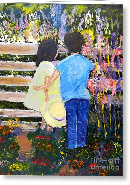 Flowers For Her Greeting Card by Pamela  Meredith