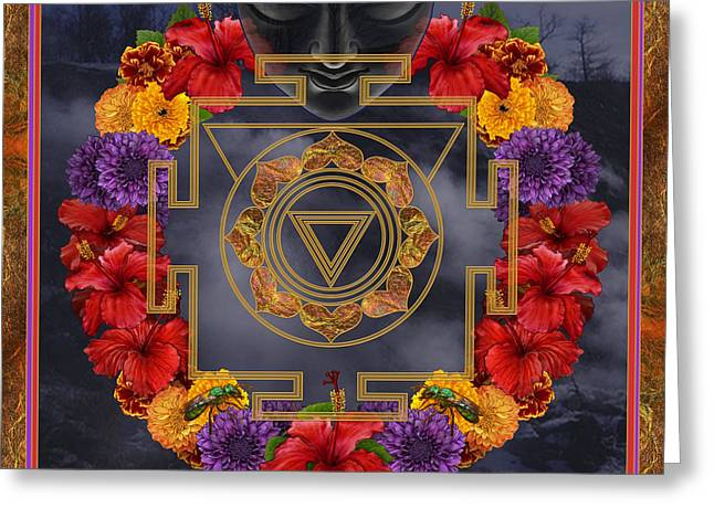 Hindu Goddess Greeting Cards - Flowers for Kali Ma Greeting Card by Nadean OBrien