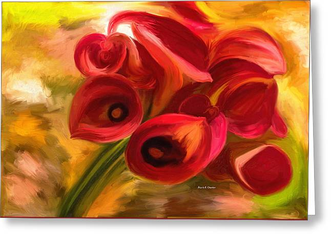 Flowers For My Mother Greeting Card by Angela A Stanton