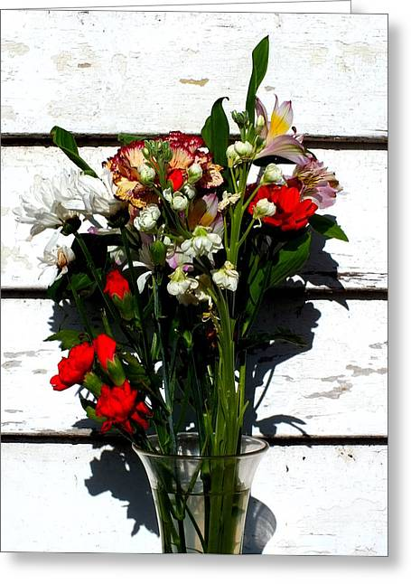 Weatherboard Greeting Cards - Flowers for my petal Greeting Card by Guy Pettingell