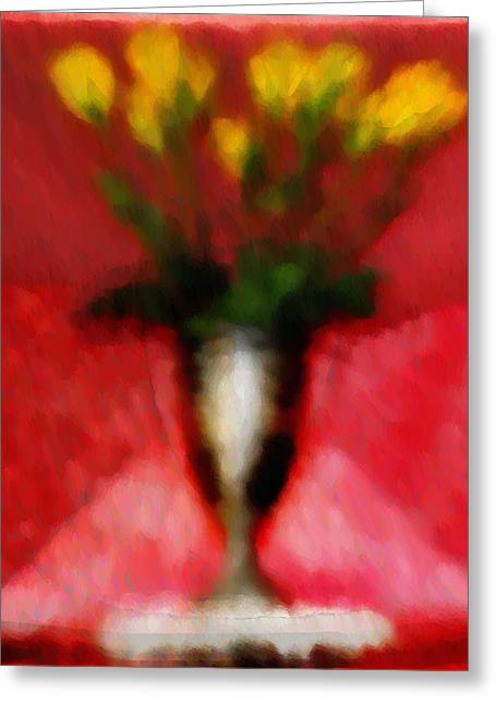 Yello Greeting Cards - Flowers for the Lady Greeting Card by Bill Cannon