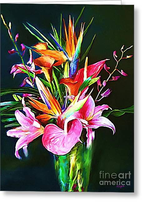 Flower Design Greeting Cards - Flowers for You 1 Greeting Card by Sergio B