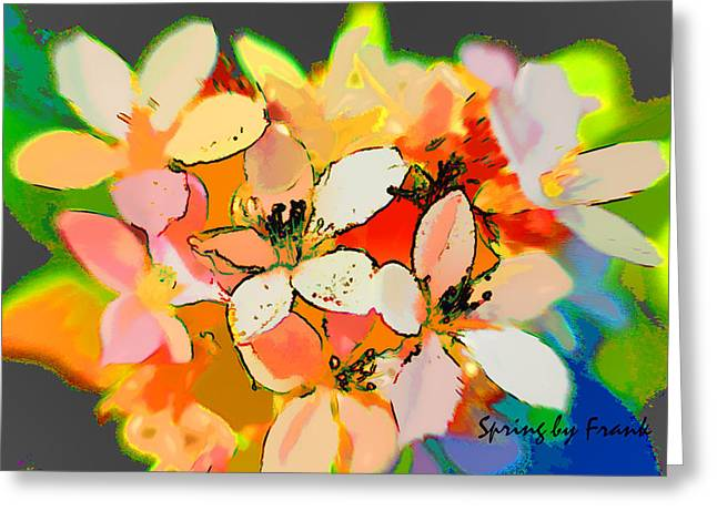 Interest Pyrography Greeting Cards - Flowers Greeting Card by Frank Haymann